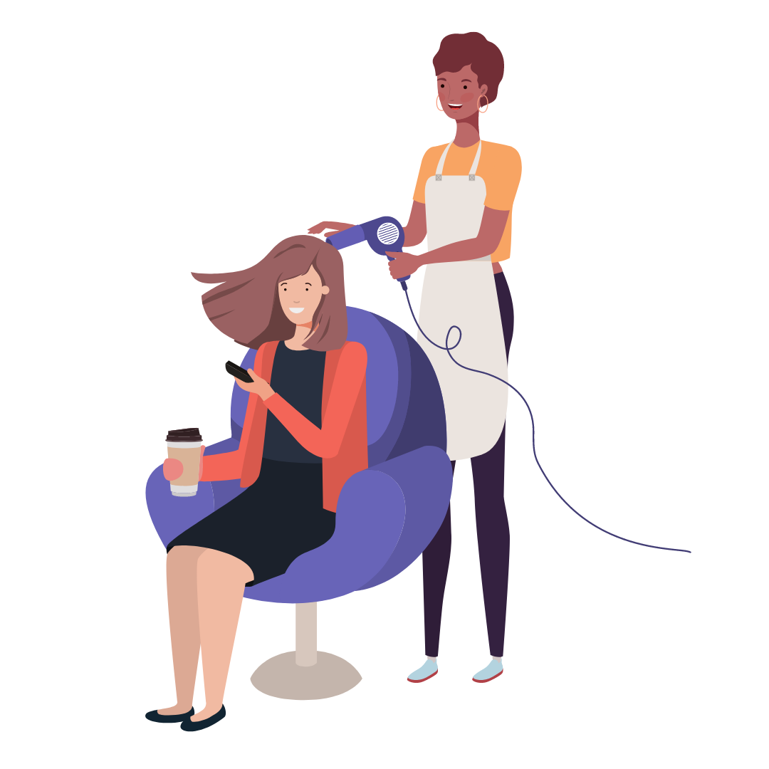 Positionierung Friseur